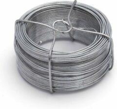 Merkloos / Sans marque 1x stuks binddraad / binddraden staal verzinkt 1,1 mm x 50 m op rol - zilver - dik ijzerdraad hobbymateriaal