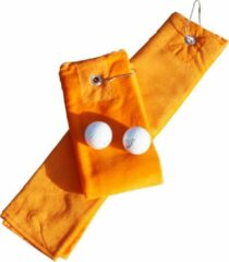 Oranje A&R Golf Handdoekje DeLuxe Velours Bright Orange 400 gram - set 5 stuks