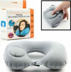 Comfortabel Reiskussen Nekkussen - Automatisch in te stellen op hardheid - Reiskussentje Auto-deflatable - Slaapkussen - Nek kussen - Travel Pillow - Opblaasbaar nekkussens voor in het Vliegtuig / Trein / Bus / Auto etc. - Decopatent®