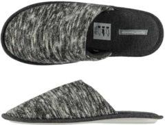 Apollo Pantoffels heren, grijze melange slof tricot - Maat 43/44