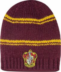 Bordeauxrode Long Slouchy Gryffindor Beanie Purple and Gold - Harry Potter