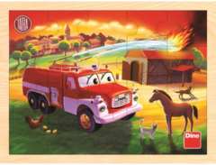 Dino houten puzzel Tatra brandweer20pcs