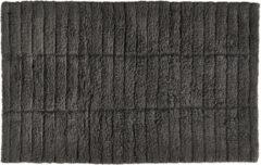 Zone Denmark badmat - tiles - antraciet - 100% katoen - 80 x 50 cm