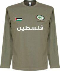 Kaki Retake Palestina Football Longsleeve T-Shirt - XXL