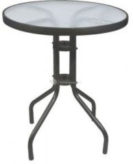 Zwarte Lesliliving Tuintafel - Ø60 cm - Metaal - Antraciet