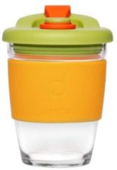 Oranje Set van 2 - Herbruikbare Koffiebeker - 340ml - Autumn Orange - Glas - Pioneer
