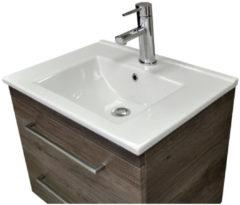 Wastafel Sanicare Q6 Inclusief Kraangat en Overloop 60x45cm Keramisch Wit (exclusief meubel)