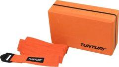 Tunturi Yoga Set - Yoga blok en Strap - Oranje/Zwart