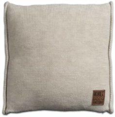 Knit Factory Knitfactory Uni - Sierkussen - 50x50 cm - Beige