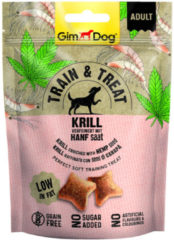 Gimdog Train & Treat 125 g - Hondensnacks - Krill&Hennep