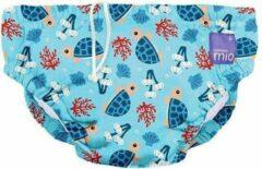 Bambino Mio Wasbare Zwemluier Turtle Bay Blauw - 6 tot 12 maanden