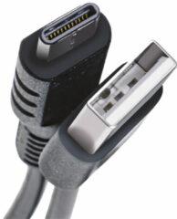 Zwarte Celly USB-C USB A USB C Mannelijk Mannelijk Zwart USB-kabel