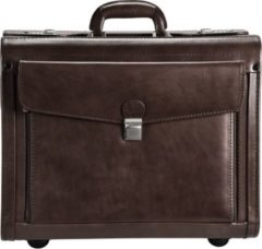 Dermata Pilotenkoffer Leder 45,5 cm Laptopfach