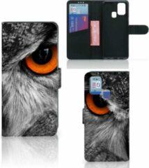 Telefoonhoesje Samsung Galaxy M31 Bookcase Uil