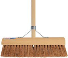 Beige Talen Tools Bezem cocos 30 cm inclusief steel 150 cm