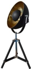 Groenovatie Nice Industrieel Design Hoge Tafellamp E27 Fitting - 63x38 cm - Goud / Zwart