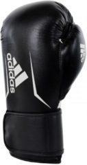 Adidas Speed 100 Bokshandschoenen Zwart met Wit-10 oz.