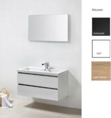 Badkamermeubelset Sanilux Trendline 100x47x50 cm 1 Kraangat (in drie kleuren verkrijgbaar)
