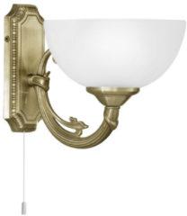 Bronze EGLO Savoy - Wandlamp - 1 Lichts - Brons - Wit