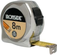 Ironside Rolbandmaat chroom professioneel 5 meter x 25mm