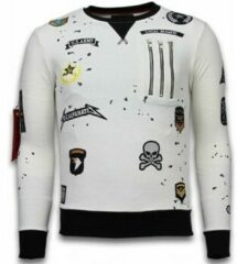 Witte Sweaters Local Fanatic Exclusief Basic Embroidery - Sweater Patches
