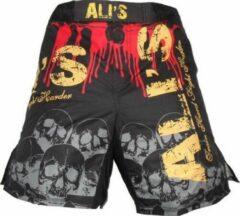 Merkloos / Sans marque Ali's fightgear kickboks broekje - mma short - 1 zwart - L