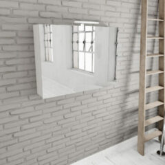 Zaro Beam mat wit spiegelkast 100x70x16cm 2 deuren