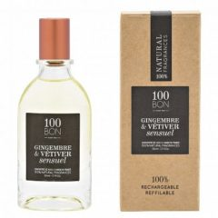 100bon Eau De Parfum Gingembre Et Vetiver Sensuel 50ml