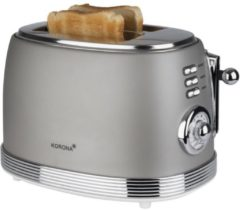 Grijze Korona Retro Toaster Toasting function, with home baking attachment Grey