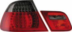 Rode Autostyle Set LED Achterlichten BMW 3-Serie E46 Coupe 1999-2003 - Rood/Smoke