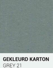 Grijze Gekleurdkarton notrakkarton Gekleurd karton grey 21 A4 270 gr.