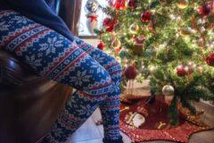 ZUMPREMA Foute Kerst legging - Blauw Rood