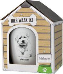 Witte Paper dreams Mok – Maltezer – Dier – Puppy – Hond – Dieren – Mokken en bekers – Keramiek – Mokken - Porselein - Honden – Cadeau - Kado