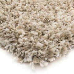 Hoogpolig vloerkleed Gemêleerd - Shaggy Prime wit/beige 240x300 cm