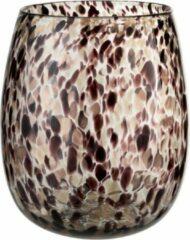 Bordeauxrode J-Line Vaas Stippen Glas Donker Bordeaux/Goud