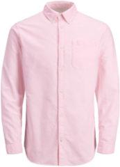 JACK & JONES Classic Long Sleeved Shirt Men Pink