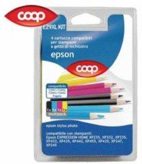 COOP 4 cartucce per stampanti multicolor E29XL KIT compatibile Epson T2991 T2992 T2993 T2994 fragola