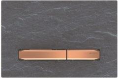 Geberit Sigma 50 bedieningplaat met dualflush frontbediening voor toilet 24.6x16.4cm rood goud / mustang leisteen 115.670.JM.2