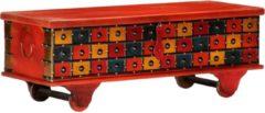 4-5 days Opbergkist 110x40x40 cm massief acaciahout rood