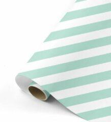 Studio Stationery Cadeaupapier Bold Lines mint/wit 70x200 cm