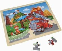 Playwood / Roel Legpuzzel brandweer 48 stukjes in houten frame