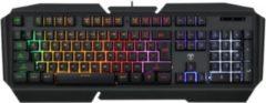 Zwarte T-Dagger TGK200 Landing-ship Gaming toetsenbord | RGB LED verlichting Gaming Keyboard | Stille toetsenbord met membraantoetsen | 19 Anti-Ghosting conflictvrije toetsen
