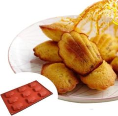 ZijTak - Madeleine bakvorm - silicone - antikleef - 9 madeleinen -bakvorm - duurzaam - Rood