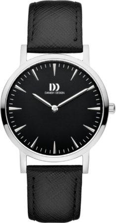 Afbeelding van Zilveren Danish Design watches edelstalen dameshorloge London Black Silver Medium IV13Q1235