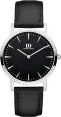 Zilveren Danish Design watches edelstalen dameshorloge London Black Silver Medium IV13Q1235