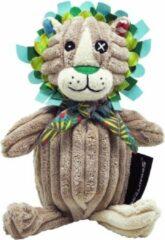 Les Deglingos knuffel leeuw bruin 22 cm