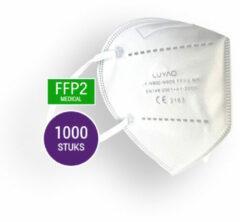 Witte 1000 Mondkapjes KN 95 Voor Groothandel - FFP2 Masks - v.a. 0,20 cent per stuk