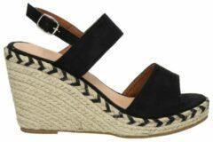 Nelson dames sandaal - Zwart - Maat 37