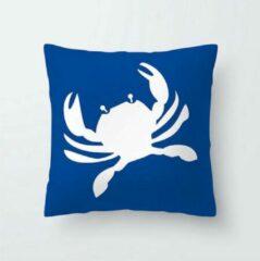 MFFL Kussensloop Krab blauw/wit (50002)