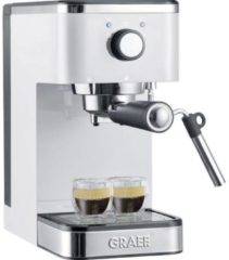 Grijze Graef Espresso piston machine ES401 compact 14 cm breed 1400 Watt Wit